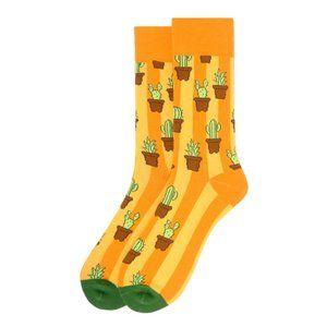 Men's Cactus Novelty Socks - Gold
